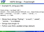 hdf5 strings fixed length