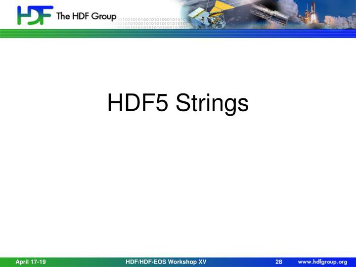 HDF5 Strings