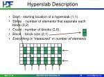 hyperslab description