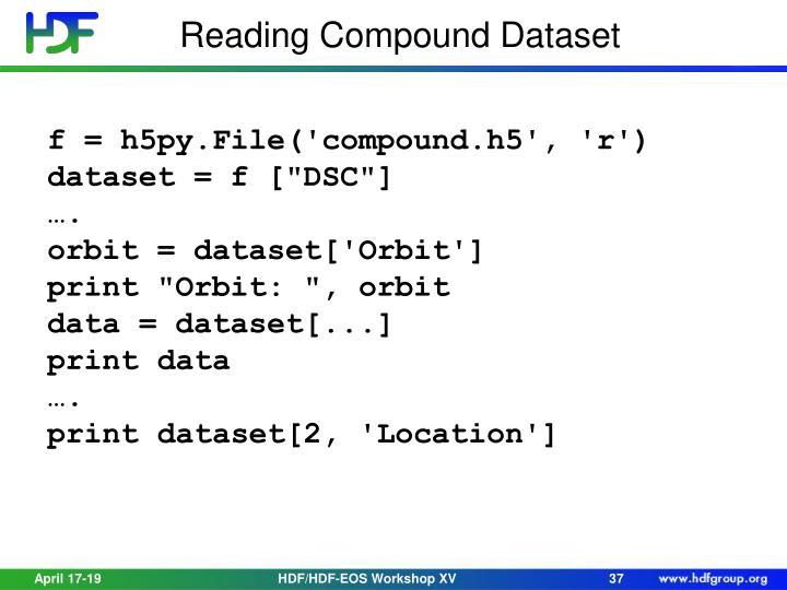 Reading Compound Dataset