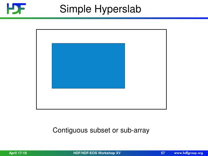 Simple Hyperslab