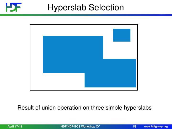 Hyperslab Selection