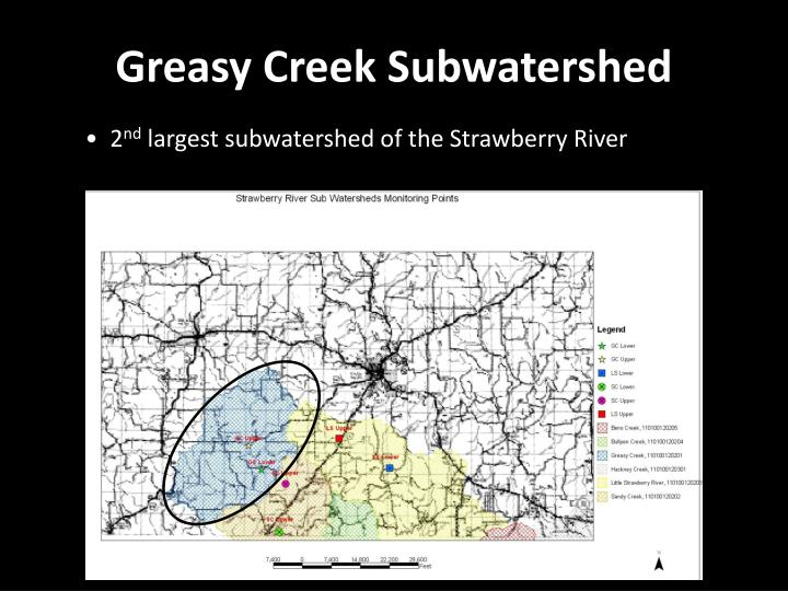Greasy Creek Subwatershed
