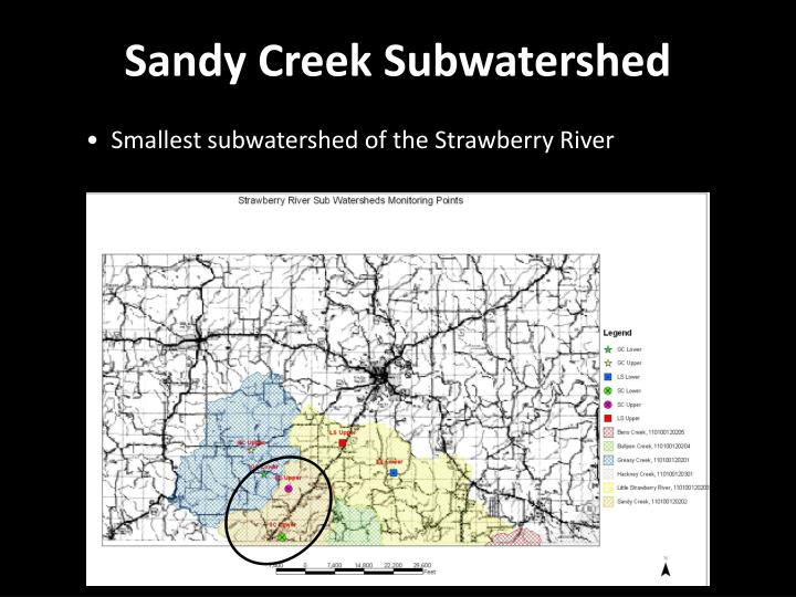 Sandy Creek Subwatershed