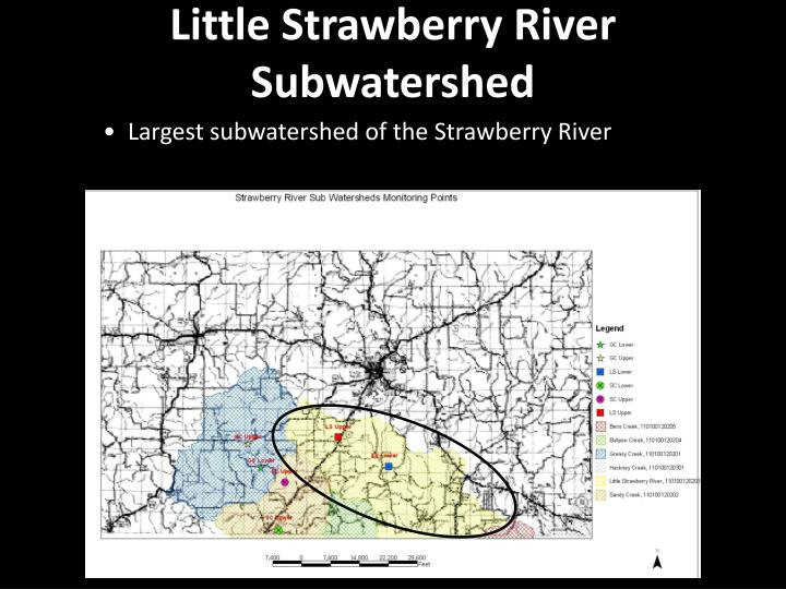 Little Strawberry River Subwatershed