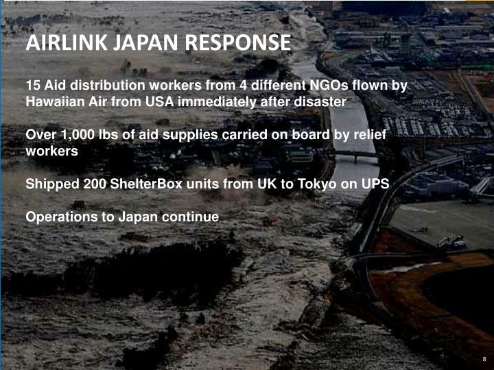 AIRLINK JAPAN RESPONSE