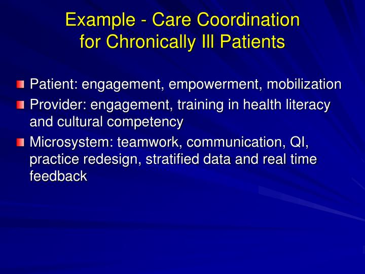 Example - Care Coordination