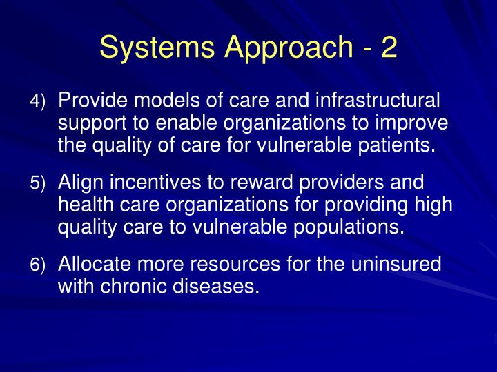 Systems Approach - 2