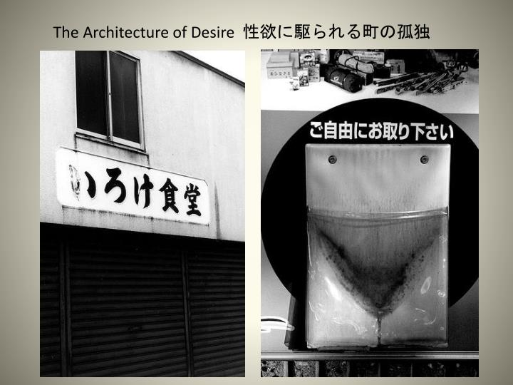 The Architecture of Desire  性欲に駆られる