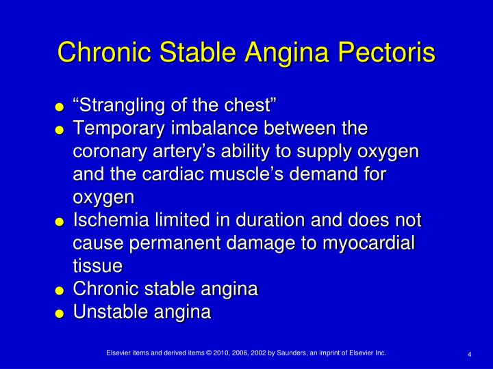 Chronic Stable Angina Pectoris