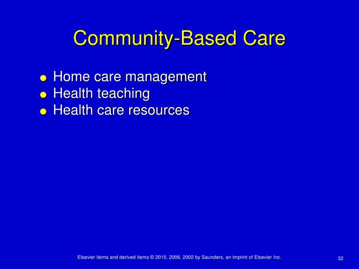 Community-Based Care