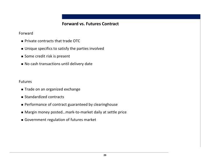 Forward vs. Futures Contract