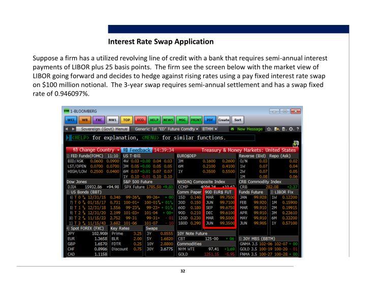 Interest Rate Swap Application