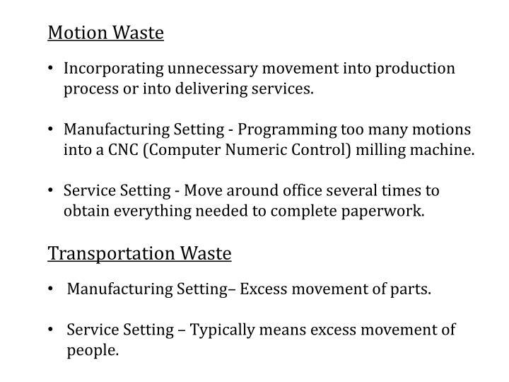 Motion Waste