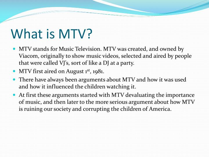 What is mtv