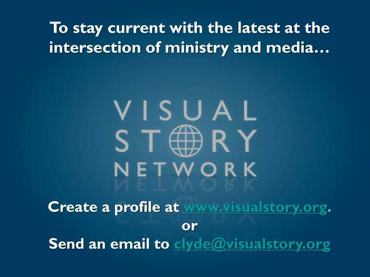 To stay current with the latest at the intersection of ministry and media…