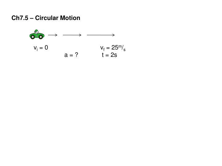 Ch7.5 – Circular Motion