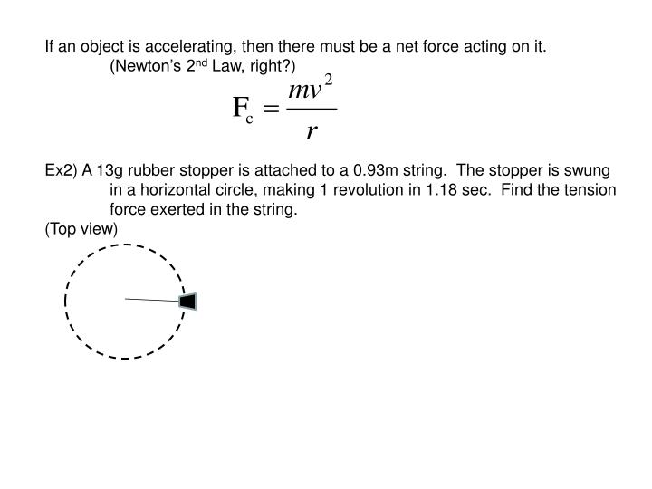 If an object is accelerating, then there must be a net force acting on it.