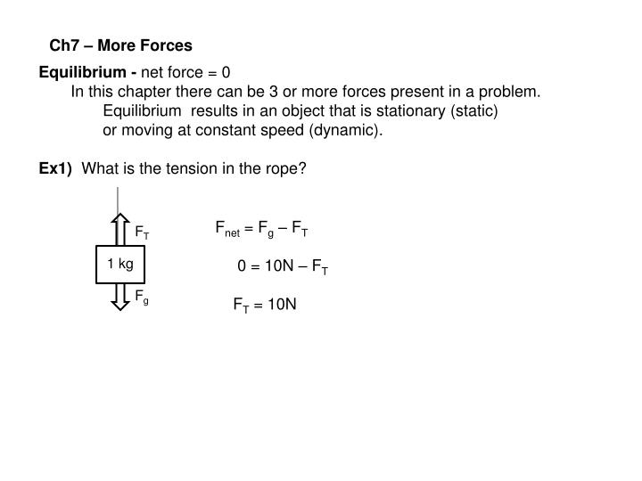 Ch7 – More Forces
