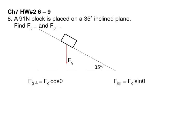 Ch7 HW#2 6 – 9