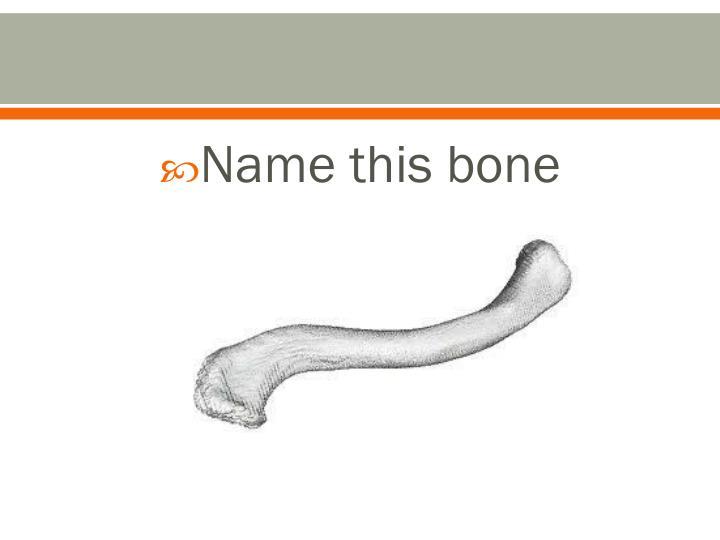 Name this bone