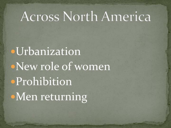 Across North America