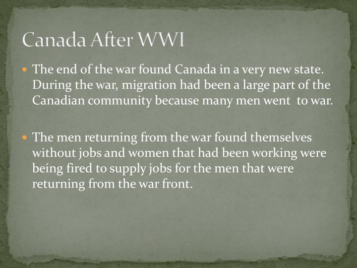 Canada After WWI