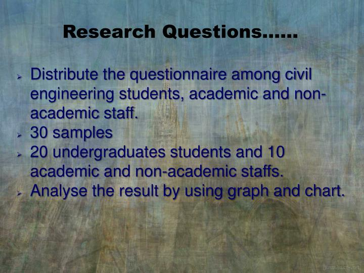 Research Questions……