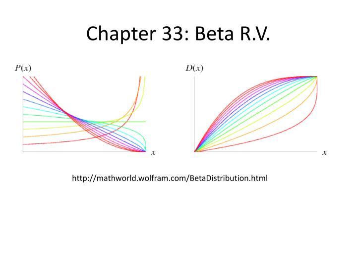 Chapter 33: Beta R.V.