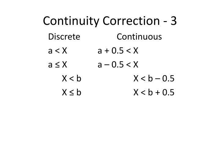Continuity Correction - 3