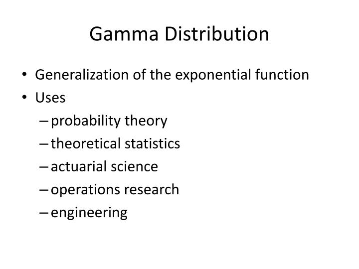 Gamma Distribution