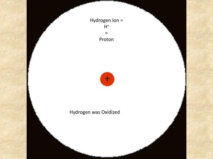 Hydrogen Ion =