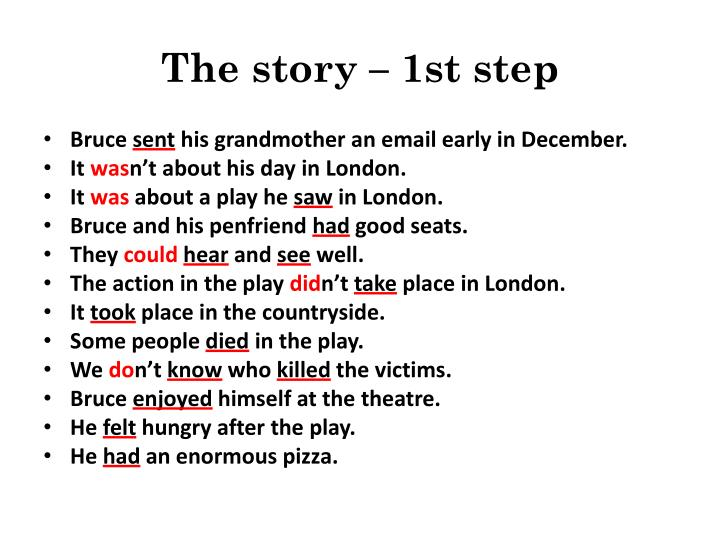 The story – 1st