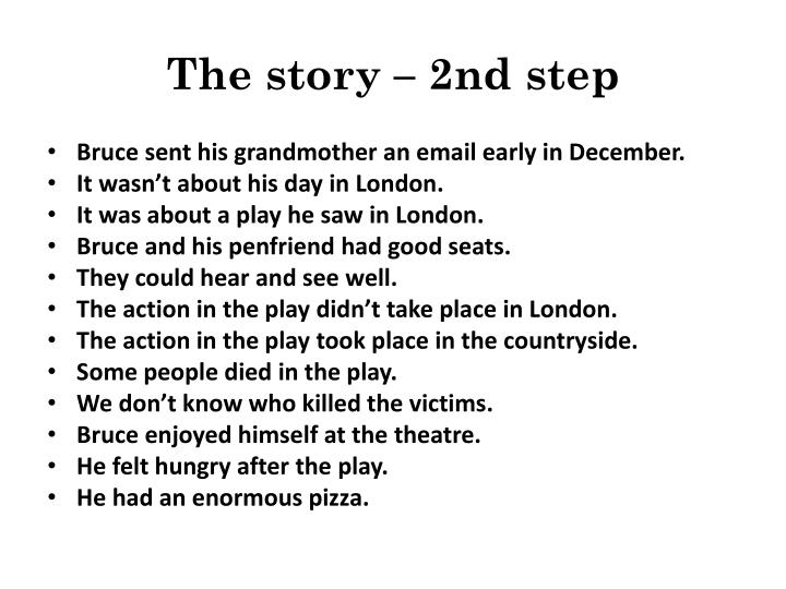 The story – 2nd