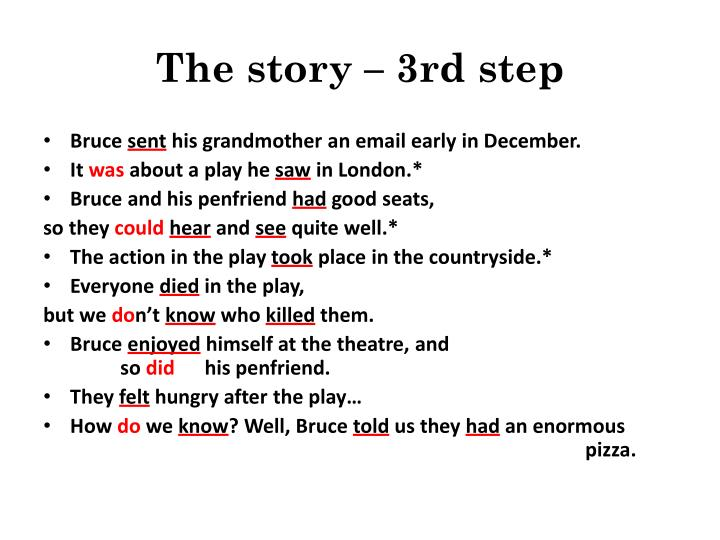 The story – 3rd