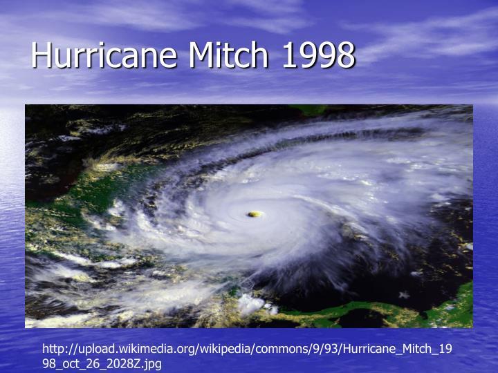 Hurricane Mitch 1998
