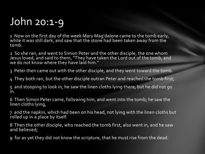 John 20:1-9
