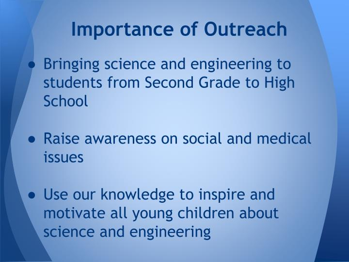 Importance of Outreach