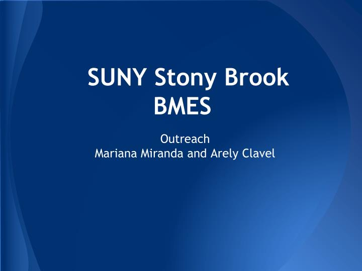 Suny stony brook bmes