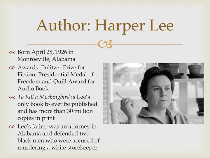 Author: Harper Lee