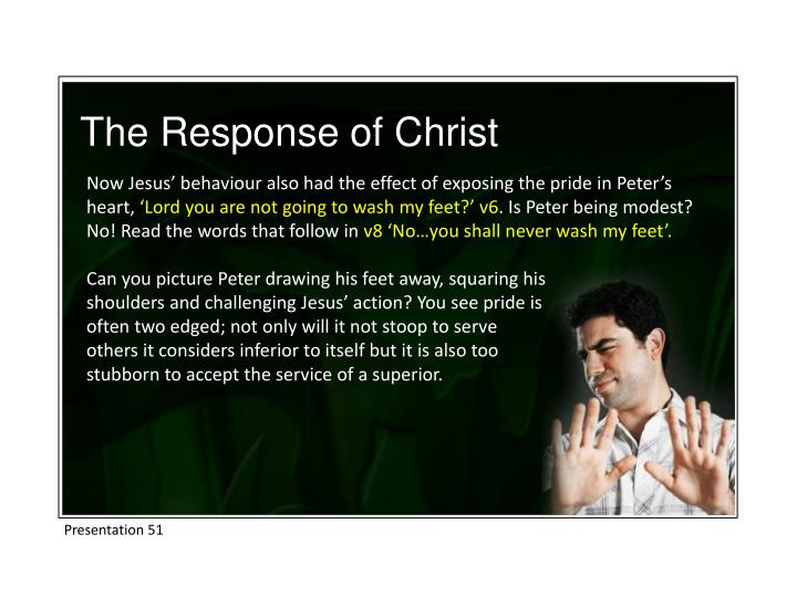 The Response of Christ