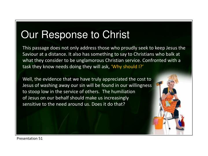 Our Response to Christ