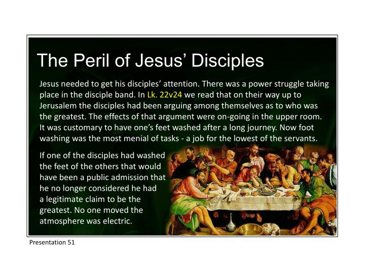 The Peril of Jesus' Disciples