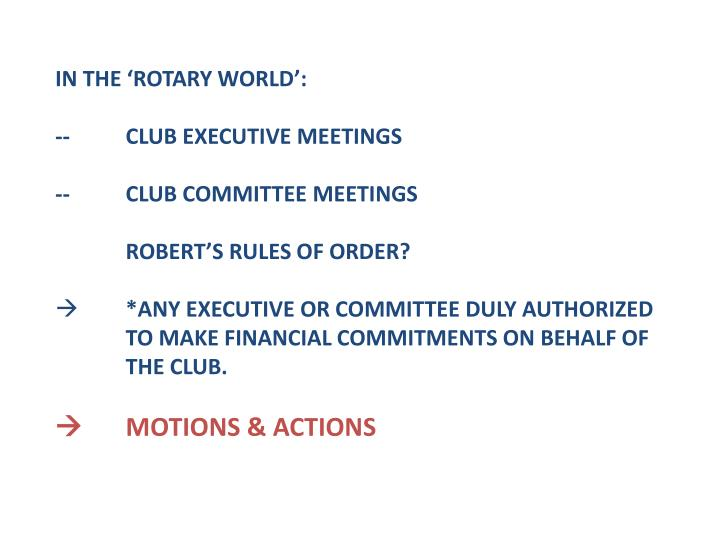 IN THE 'ROTARY WORLD':