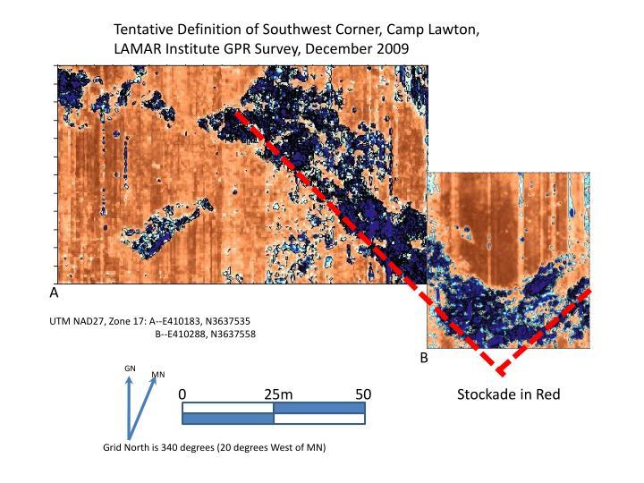 Tentative Definition of Southwest Corner, Camp Lawton,