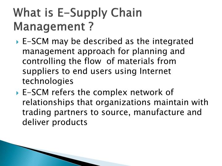 What is e supply chain management