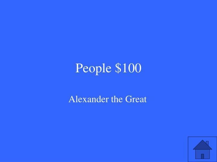 People $100