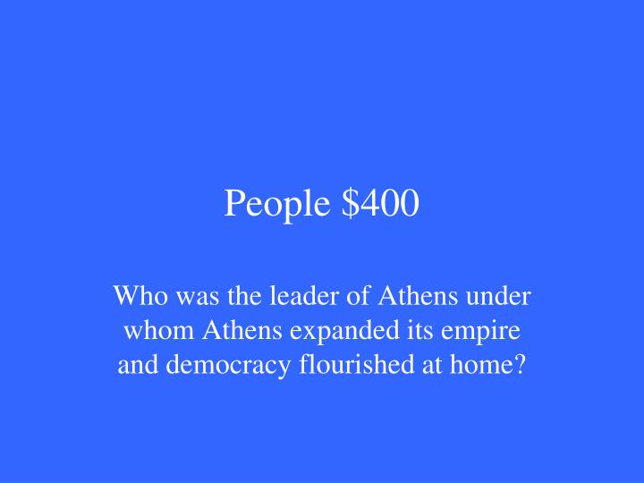 People $400