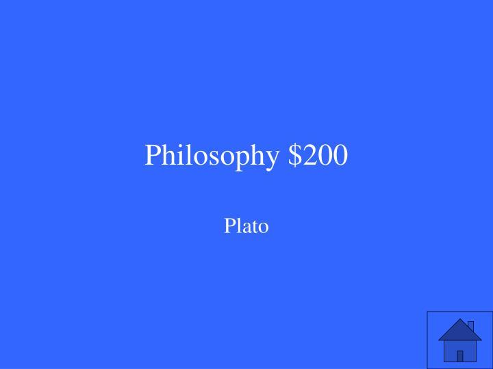 Philosophy $200