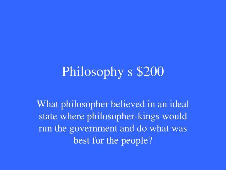 Philosophy s $200